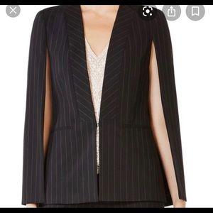 Upas style pinstripe cape blazer